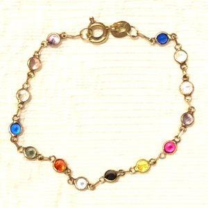 "❤️❤️ 18k gold with natural stones bracelet 5"""